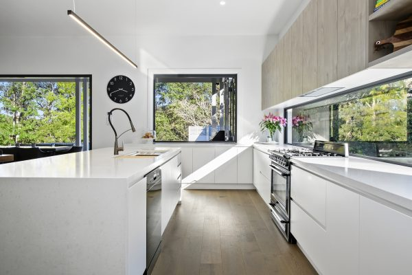 Natural Light Flooding the Kitchen in the recently completed project